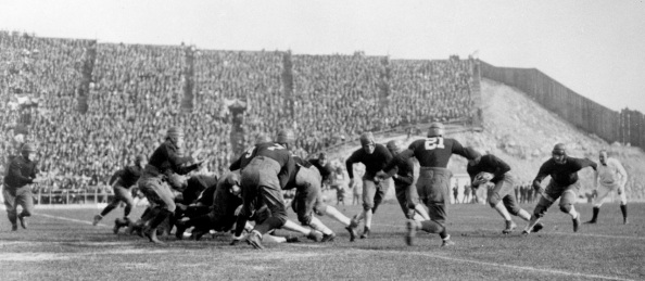 GATH 05/55:  Football Game Scene - ND  vs. Stanford Rose Bowl, 1925.