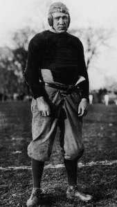 Knute Rockne in his Notre Dame playing days.